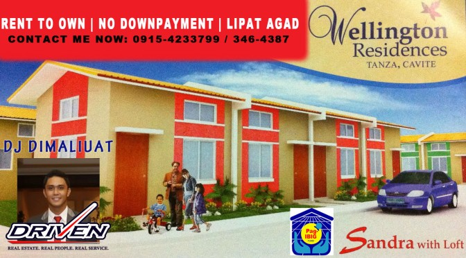 Rent to Own Townhouse for sale thru Pag-IBIG | Wellington Residences Tanza Cavite